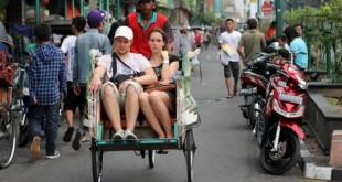 Malioboro is the most famous street in Yogyakarta