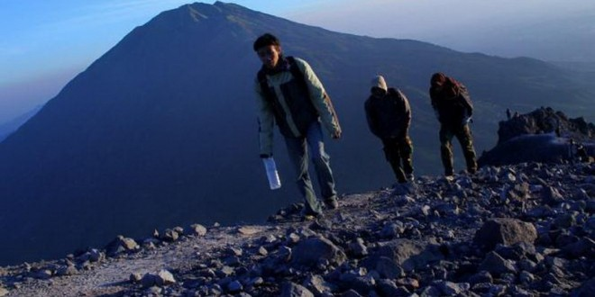 On The Edge Of A Volcano At Mount Merapi