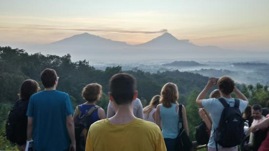 Hunting Sunrise at Borobudur Indonesia