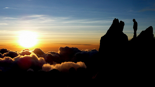 Extreme Sunrise At Merapi Volcano